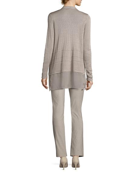 Wonderstretch Straight-Leg Pants, Light Beige