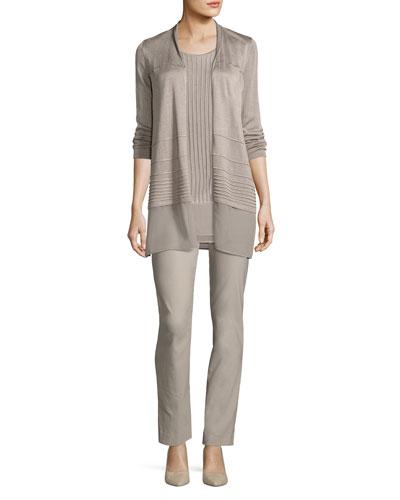 Wonderstretch Straight-Leg Pants, Light Beige and Matching Items