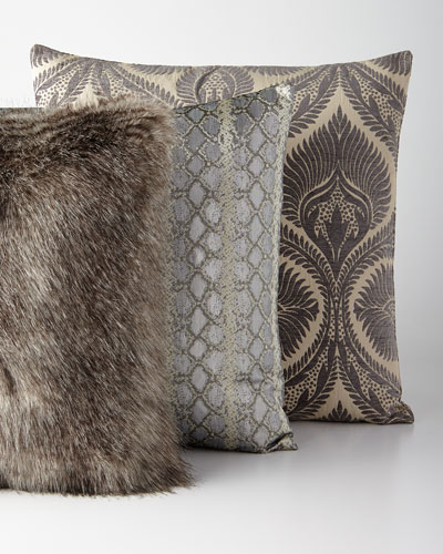 Handcrafted Gray and Silver Pillows