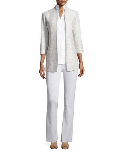 Sleeveless Stretch-Cotton Shirt, Petite and Matching Items
