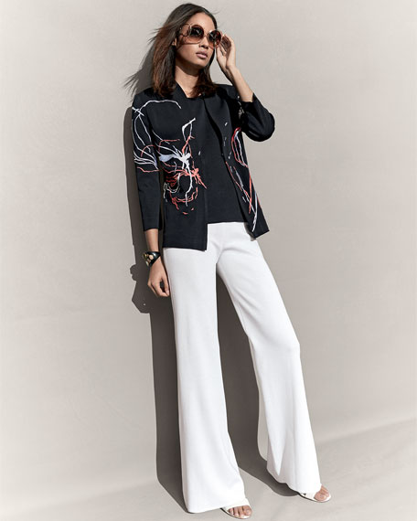 Fireworks Embroidered Jacket, Plus Size