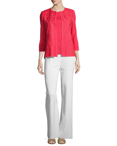 Textured 3/4-Sleeve Jacket, Sorbet, Petite  and Matching Items