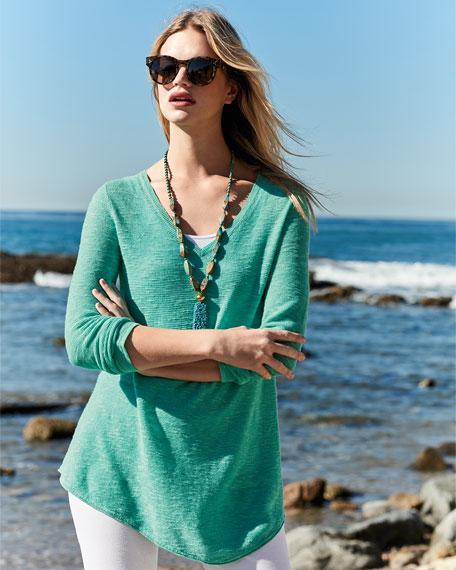 Long-Sleeve Organic Links Tunic, Plus Size