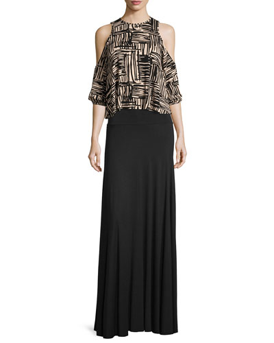 Gideon Cold-Shoulder Cropped Top, Etch Print, Plus Size and Matching Items