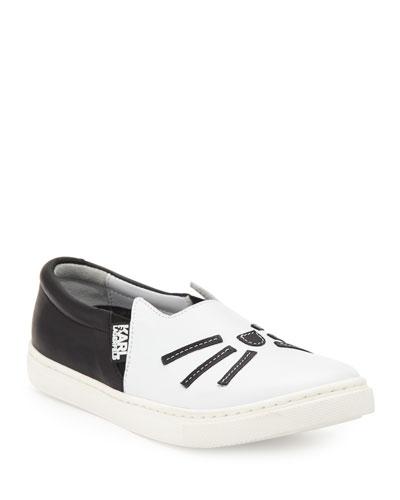 Leather Choupette Slip-On Sneaker