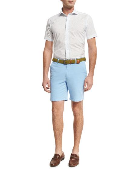Flight Path Short-Sleeve Sport Shirt, Blue