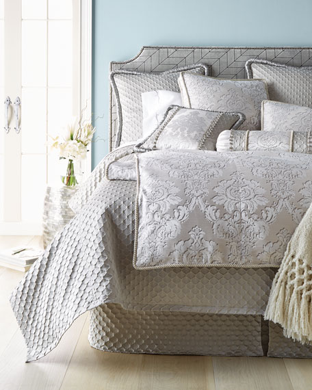 King Vasari Damask Duvet Cover