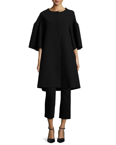 Crepe Cigarette Pants, Black and Matching Items