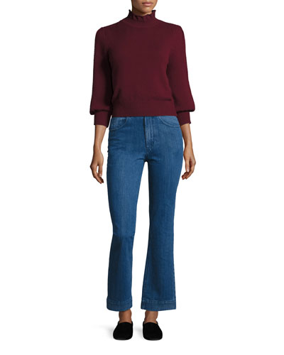High-Waist Flare-leg Jeans, Indigo and Matching Items