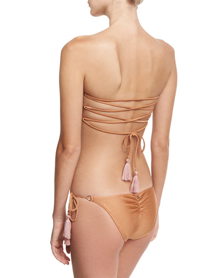 California Tie-Side Swim Bottom, Brown