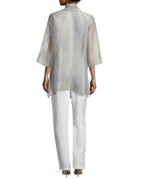 Silk Crepe Straight-Leg Pants