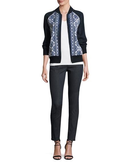 Bardot Slim-Fit Capri Jeans, Dark Blue