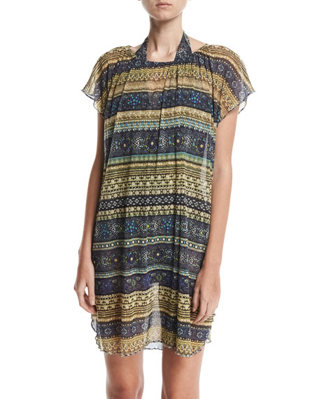 Tulle Poncho Coverup Tunic/Dress, Sapphire
