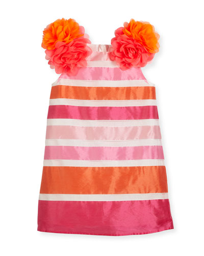 Nelly Striped Taffeta Dress