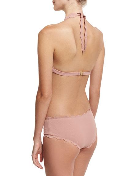 Spring Scalloped Boy-Cut Bikini Swim Bikini Bottom
