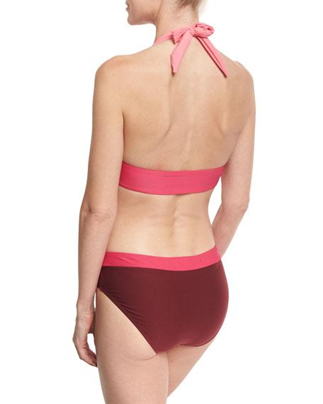 two-tone hipster bikini bottom, pink