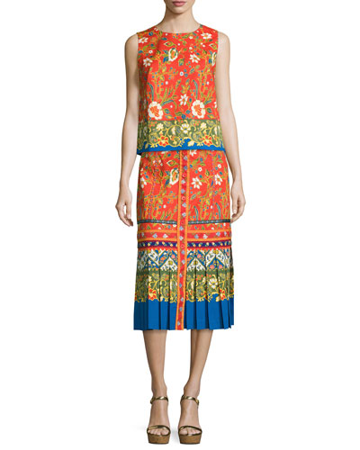 Dayton Runway Button-Front Midi Skirt and Matching Items