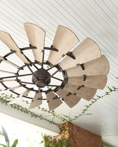"Windmill Bronze 60"" Outdoor Ceiling Fan"
