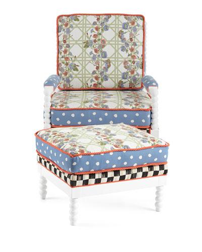 Morning Glory Outdoor Chair U0026 Ottoman