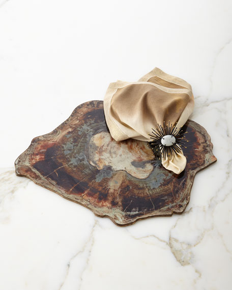 Flare Black & Gold Napkin Ring