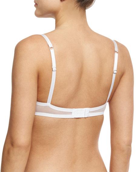 Chimere Lace Balconette Bra, White