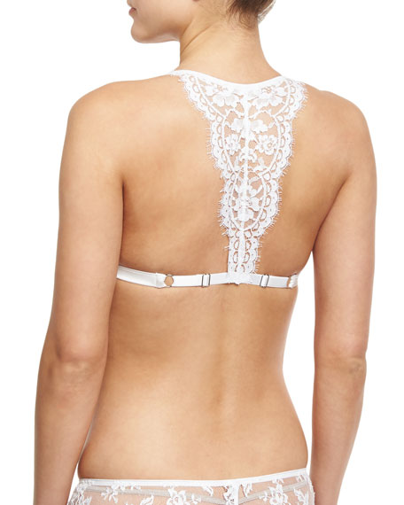 Fatal Attraction Triangle Lace Bralette, White