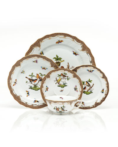 Rothschild Bird Borders Brown Salad Plate #1 and Matching Items