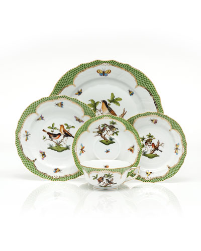 Rothschild Bird Green Border Salad Plate #4 and Matching Items