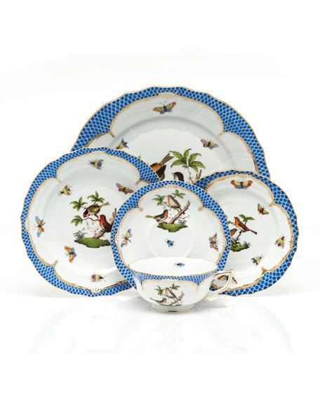Rothschild Bird Blue Border Bread & Butter Plate #1