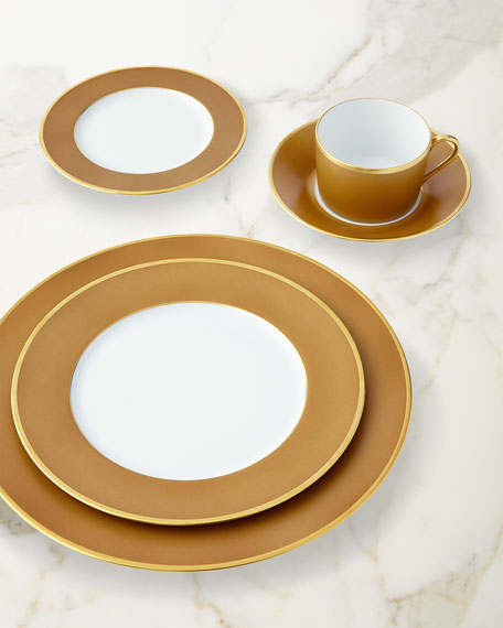 Color Block Bronze/Gold Dinner Plate