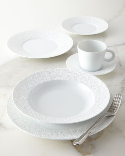 Ecume White Salad Plate and Matching Items