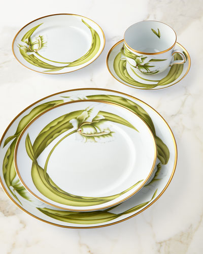 White Tulips Salad/Dessert Plate and Matching Items