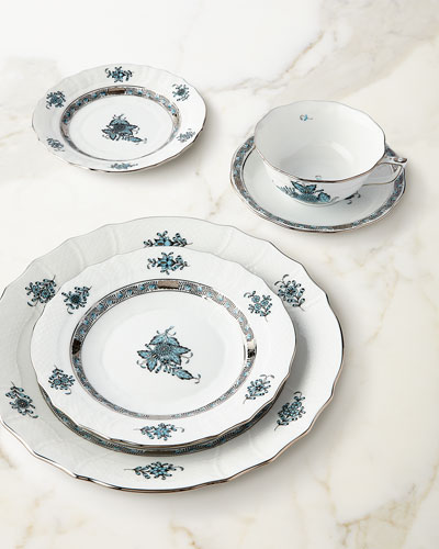 Chinese Bouquet Turquoise & Platinum Dinnerware