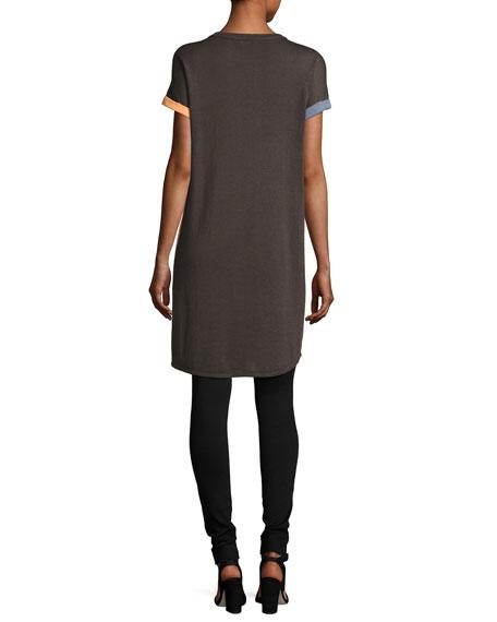 Divisional Short-Sleeve Tunic, Petite