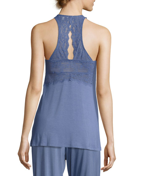 Lace-Bust Knit Lounge Camisole
