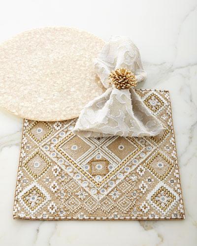 Luxor Table Linens & Sunburst Napkin Ring
