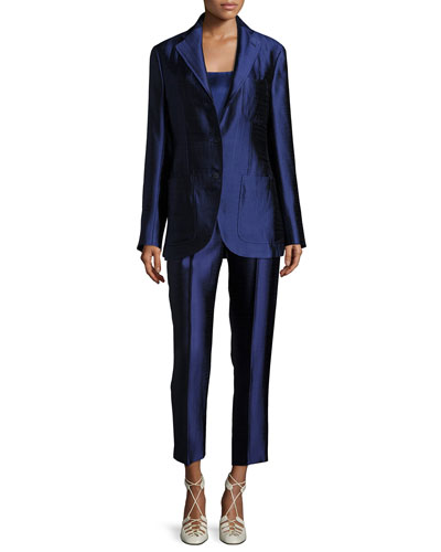 Posner Three-Button Blazer Jacket and Matching Items
