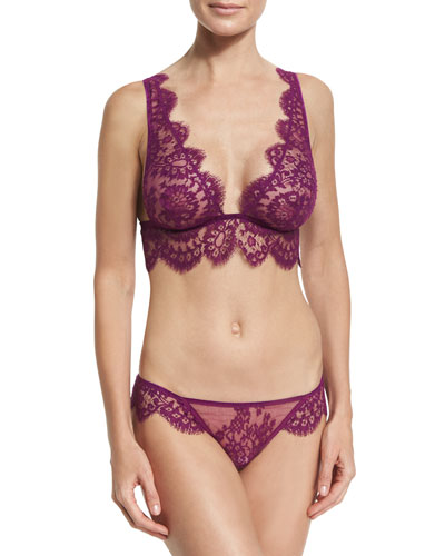 Noir Comme La Robe Special Lace Bralette, Purple and Matching Items