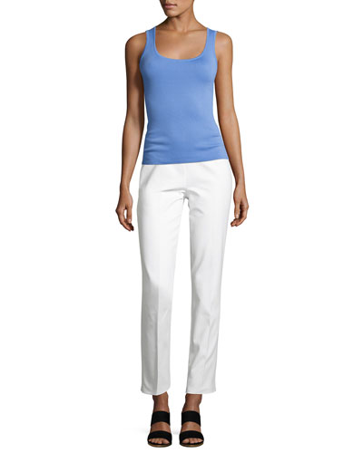 Cashmere Scoop-Neck Shell Tank, Blue and Matching Items