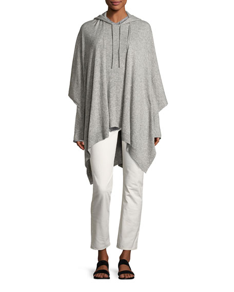 Hern Cashmere-Silk Cape, Light Gray