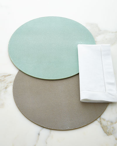 Faux-Shagreen Placemats
