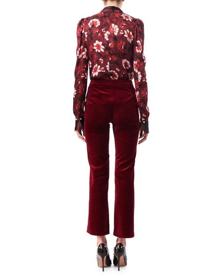 Nettle Velvet Flared Crop Pants