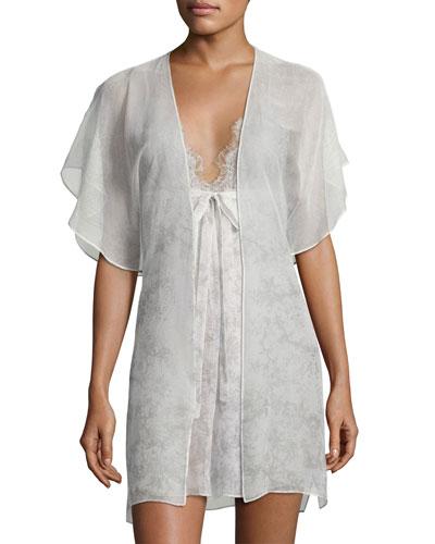 Midsummer Printed Short Robe, Multi Pattern and Matching Items