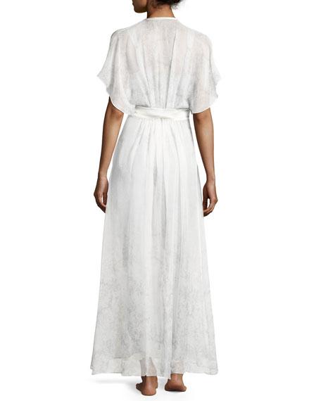 Midsummer Printed Chiffon Long Robe, Multi Pattern