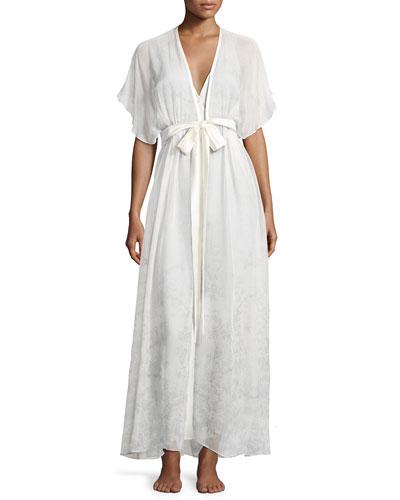 Midsummer Printed Chiffon Long Robe, Multi Pattern and Matching Items