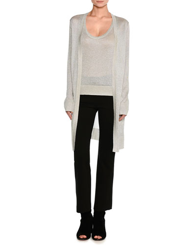 Lurex® Metallic Oversized Open-Front Cardigan and Matching Items