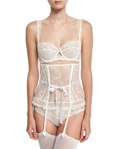 Orchid Paradis Waspie Suspender Garter Belt and Matching Items