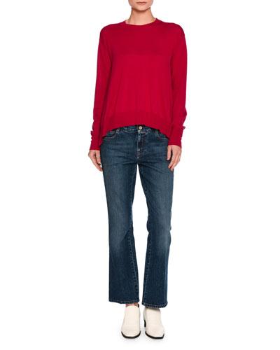 Virgin Wool Crewneck Sweater and Matching Items