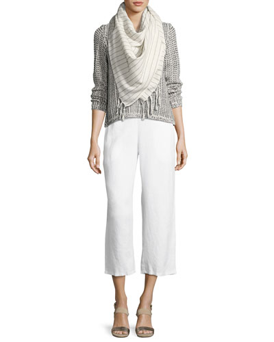 Organic Linen Straight-Leg Ankle Pants and Matching Items