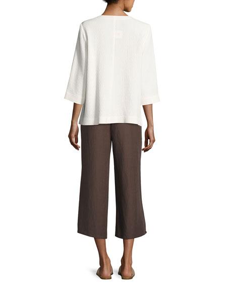 Double-Weave Crinkled Jacket, White
